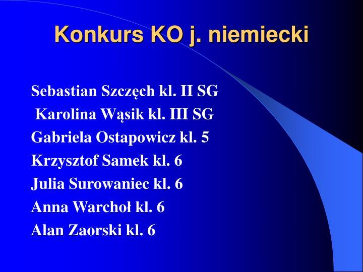 Konkurs KO j. niemiecki