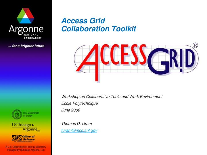 access grid collaboration toolkit n.