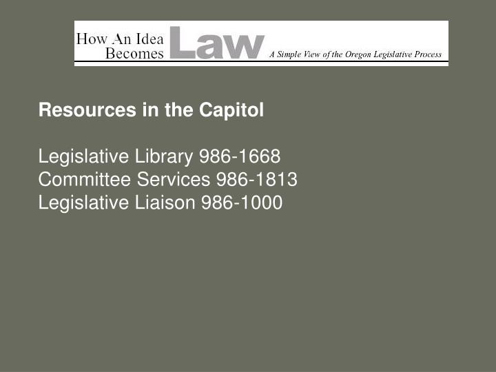 Resources in the Capitol