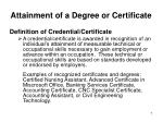attainment of a degree or certificate5