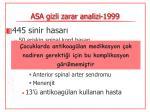 asa gizli zarar analizi 19991