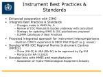 instrument best practices standards