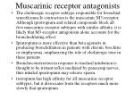 muscarinic receptor antagonists2