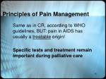 principles of pain management