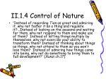 ii 1 4 control of nature