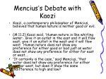 mencius s debate with kaozi