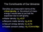 the constituents of our universe