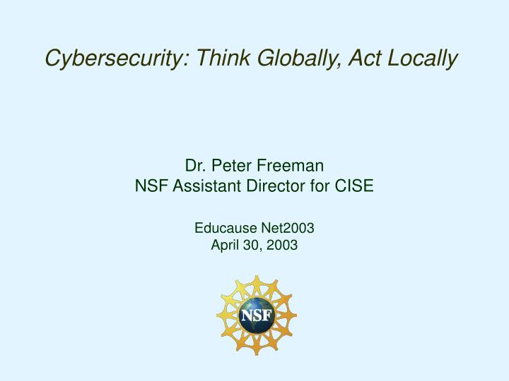 cybersecurity think globally act locally n.