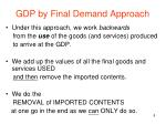 gdp by final demand approach