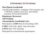 astronomy in germany