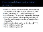 functions defined on cartesian products