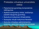 prielaidos virtualaus universiteto veiklai