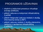 programos u daviniai
