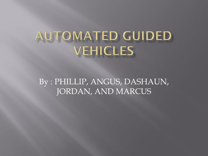 automated guided vehicles n.