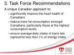 3 task force recommendations