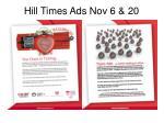 hill times ads nov 6 20