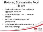 reducing sodium in the food supply