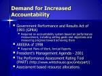 demand for increased accountability