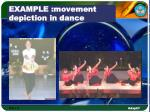 example movement depiction in dance