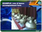 example one of dance accompaniment form