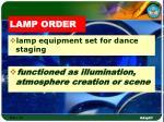 lamp order