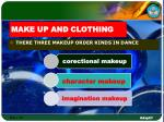 make up and clothing