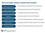 key principles define a good local system