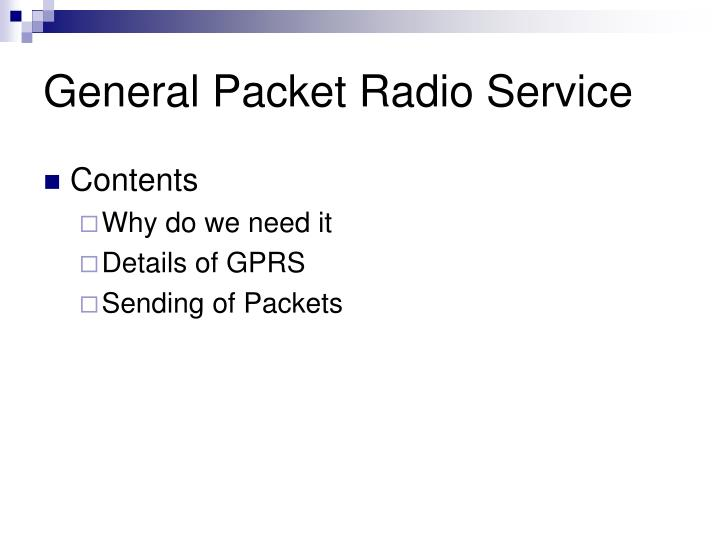 General packet radio service1