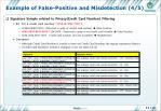 example of false positive and misdetection 4 5