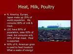 meat milk poultry