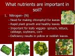 what nutrients are important in soil