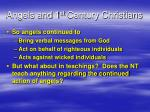 angels and 1 st century christians2