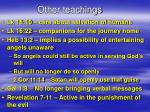 other teachings