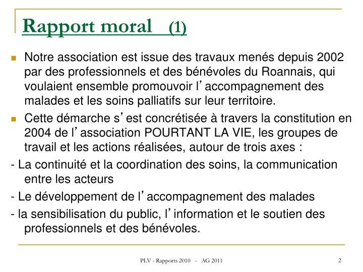 Rapport moral 1