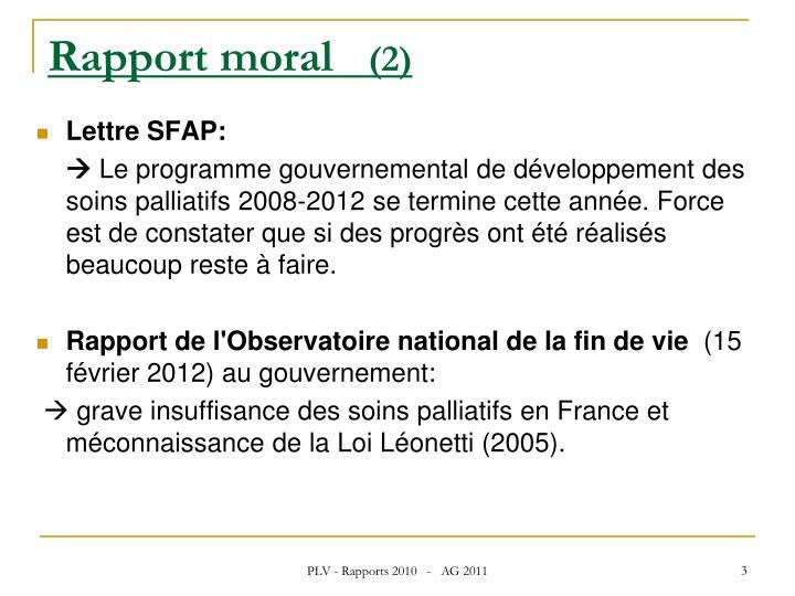 Rapport moral 2