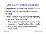 atomicity and expressions