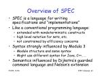 overview of spec