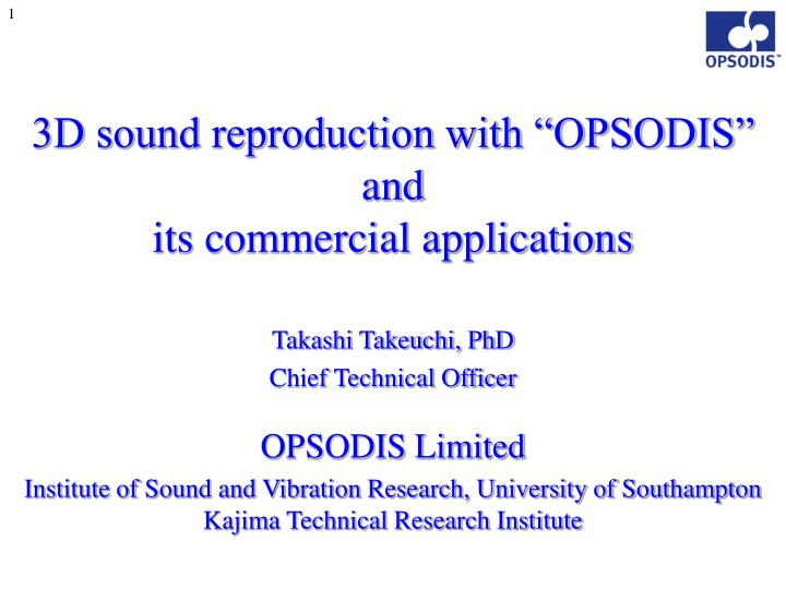 3d sound reproduction with opsodis and its commercial applications n.