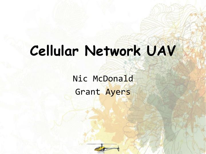 cellular network uav n.