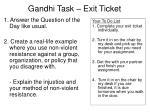 gandhi task exit ticket