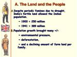 a the land and the people