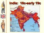 india 18c early 19c