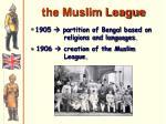 the muslim league