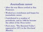 journalism career