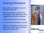 policing directions
