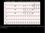 unstable angina vs non q wave myocardial infarction