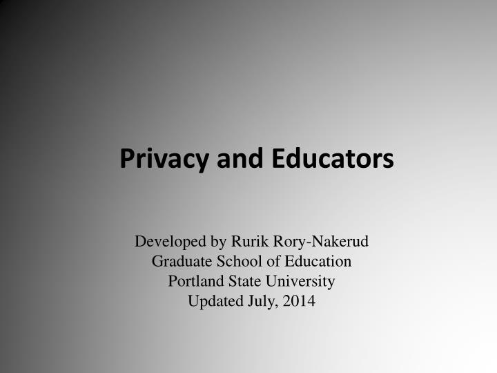 privacy and educators n.