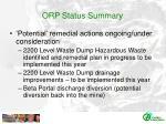 orp status summary1