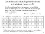 data frame come struttura per rappresentare insiemi di dati eterogenei 2