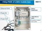 hwg pwr 1f 230v mobile box